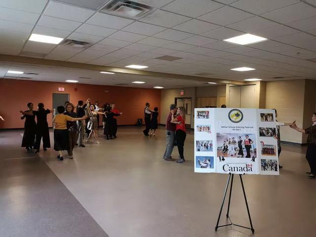 辽宁总商会与加拿大新华人联合会舞蹈中心排练舞蹈节目